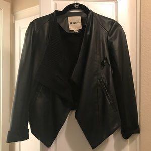 BB Dakota Leather Knit Blazer